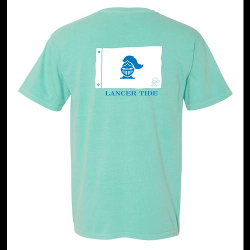 Sme lancer tide short sleeve t shirt comfort colors chalky for Mint color t shirt
