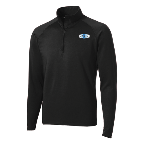 dd1c373ce SME XC Unisex Performance 1/4 Zip Pullover - Vintage Logo - Black
