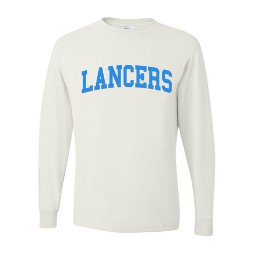 22cd5779d LANCERS Long Sleeve T-Shirt Youth & Adult-White – All Things Athletic