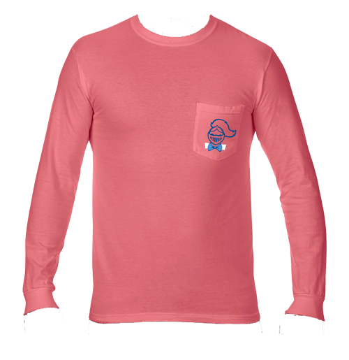 3981f850864d NEW for the Holidays!! SME Lancer Bowtie Long Sleeve Comfort Colors Pocket  T-Shirt-Watermelon