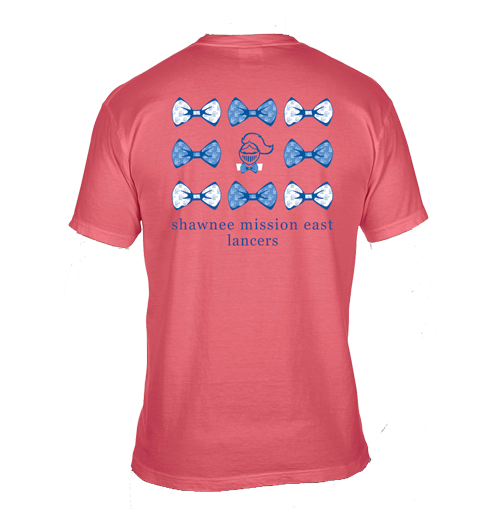088c7739 NEW for the Holidays!! SME Lancer Bowtie Short Sleeve Comfort Colors Pocket  T-Shirt-Watermelon