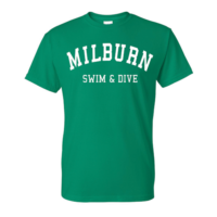 f80cd9fb22610 Milburn Unisex Moisture Wicking T-Shirt – Youth   Adult – Green